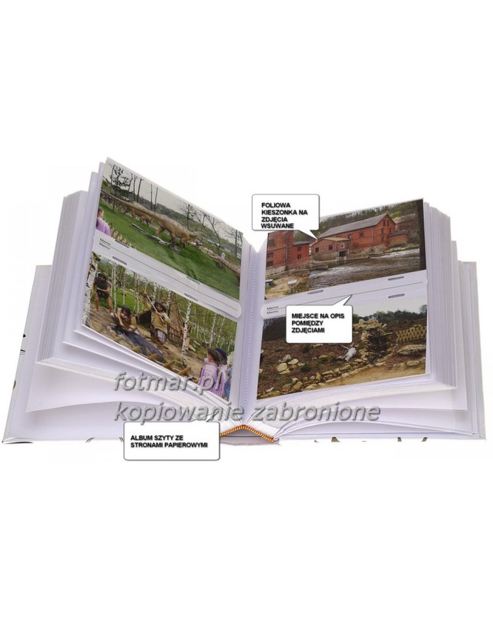szyty album na 300 zdjęć z opisem formatu 10x15 AC RÓŻOWY