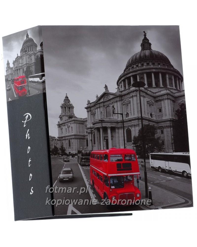 Album kieszeniowy na 300 zdjęć 10x15 Londyn CZERWONY AUTOBUS