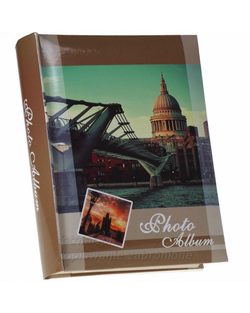 szyty album na 200 zdjęć z opisem formatu 10x15 CDS BRĄZOWY