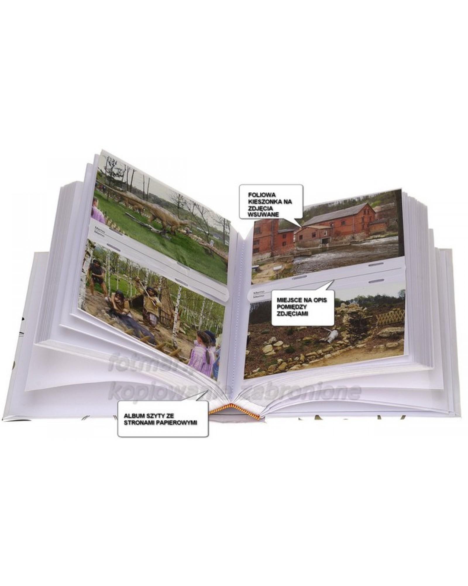 szyty album na 200 zdjęć z opisem formatu 10x15 LEAF-1
