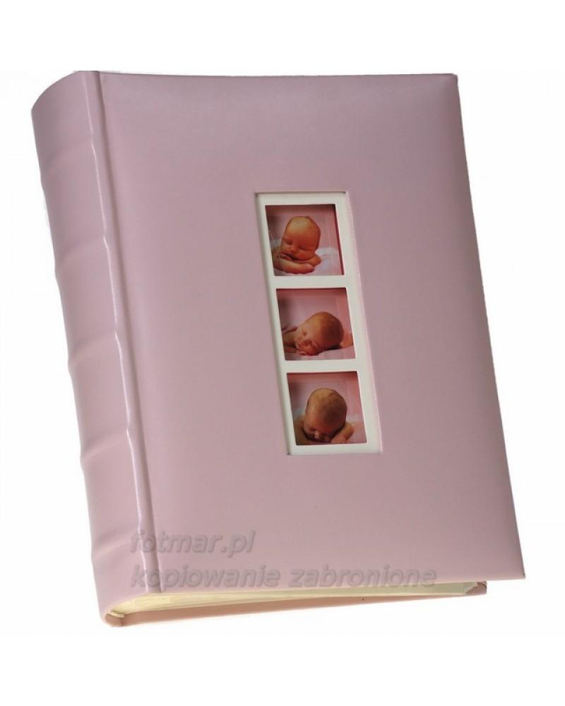 Różowy album szyty na 300 zdjęć 10x15 dla dziecka 03BABY