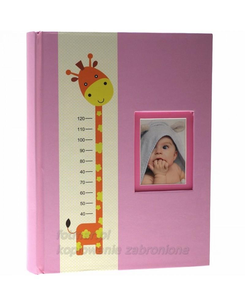 Różowy album szyty na 300 zdjęć 10x15 dla dziecka RIESE