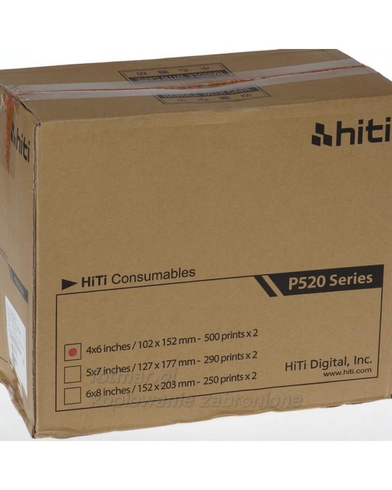 Hi-Ti papier+folia na 1000 zdjęć do drukarki P525/ P520
