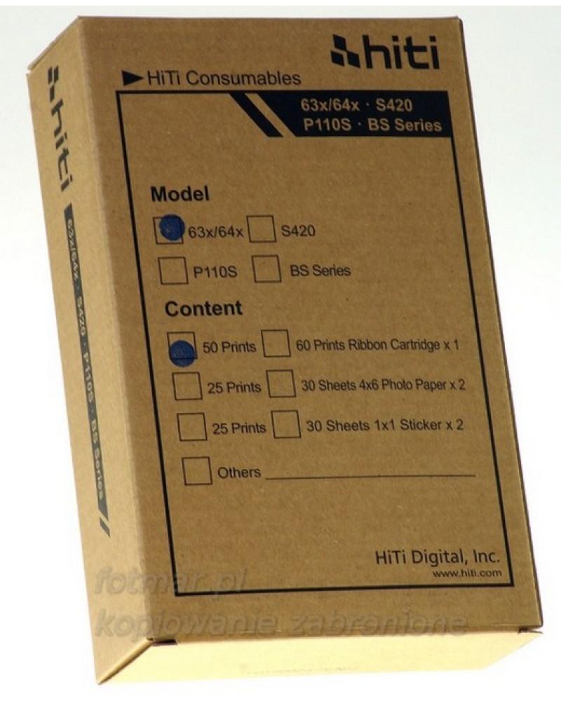 Hi-Ti papier+folia na 50 zdjęć do drukarki S420