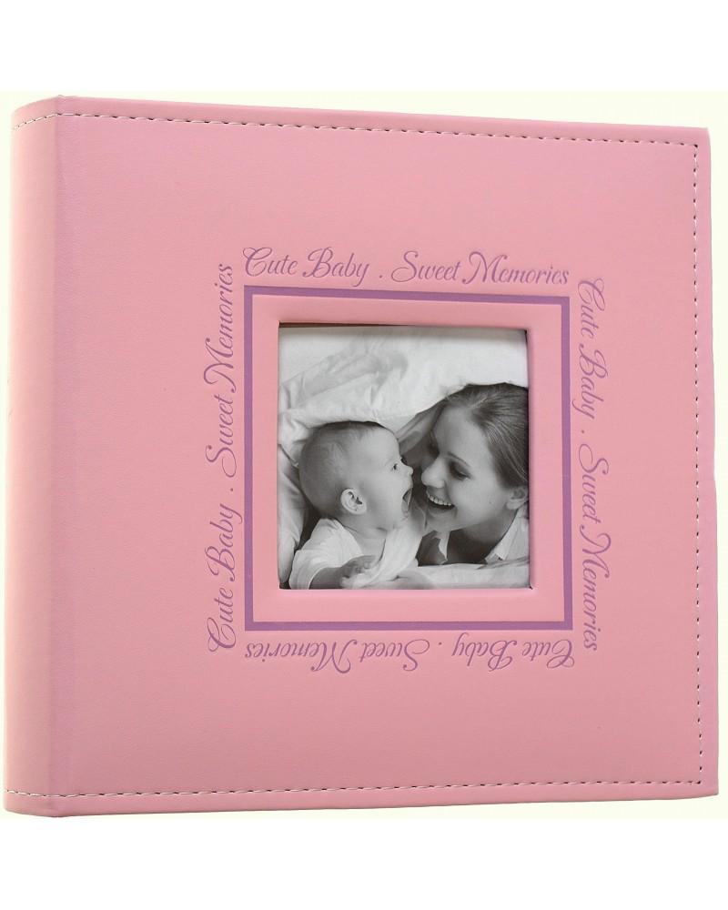 Różowy album na zdjęcia dziecięce 10x15 na 200 zdjęć PERFECT LINE