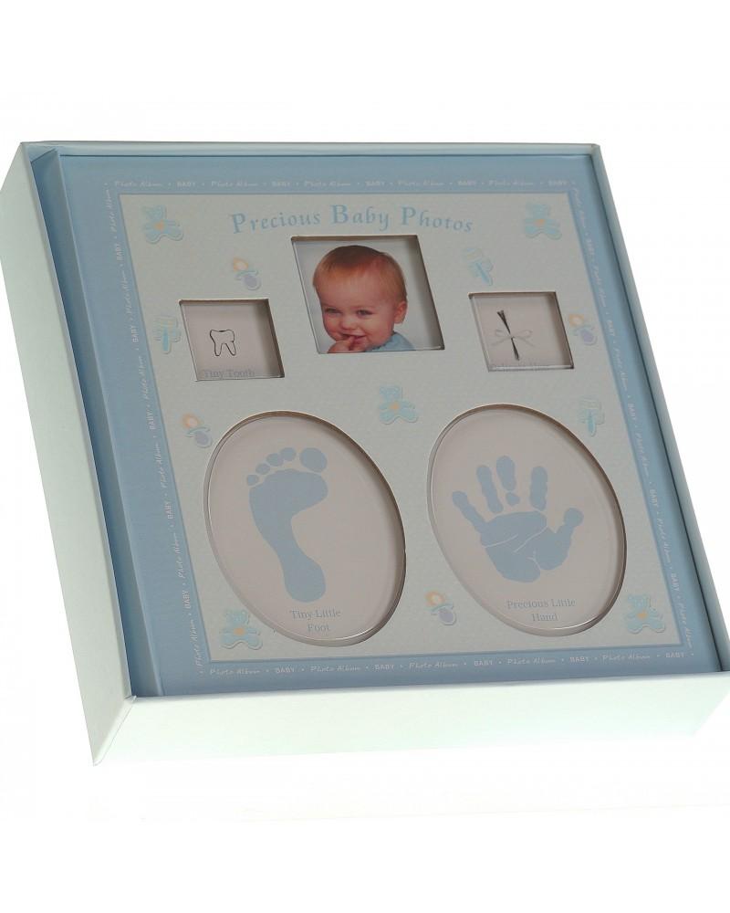 Niebieski album na zdjęcia dziecięce 10x15 na 200 zdjęć w pudełku z miejscem na opis BABAY2