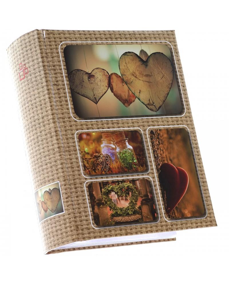szyty album na 200 zdjęć z opisem formatu 10x15 LINEN BRĄZOWY