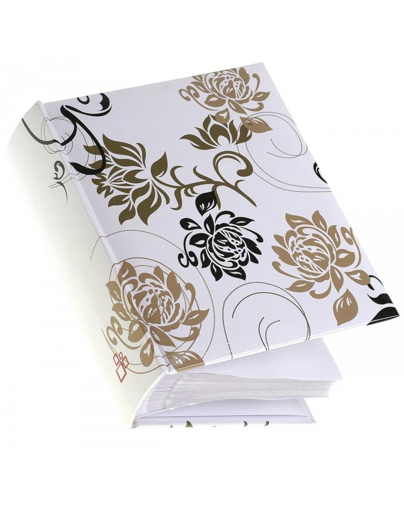 Biały album czarne i złote kwiaty 10x15 na 300 zdjęć B&W