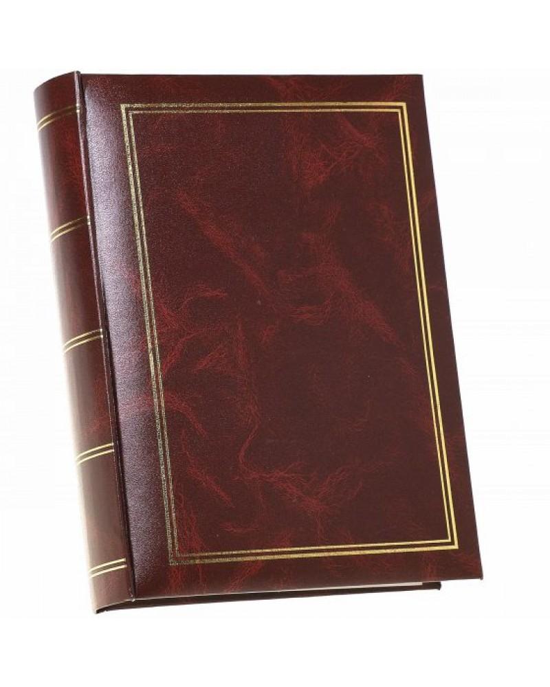 Klasyczyny brazowy ze złotą ramką szyty album na 200 zjęć z opisem formatu 10x15