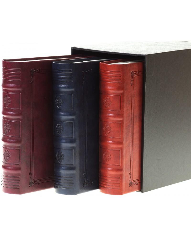 Piękny zestaw trzech albumów ze skóry na 200 zdjęć w pudełku zestaw na 600 zdjęć 10x15