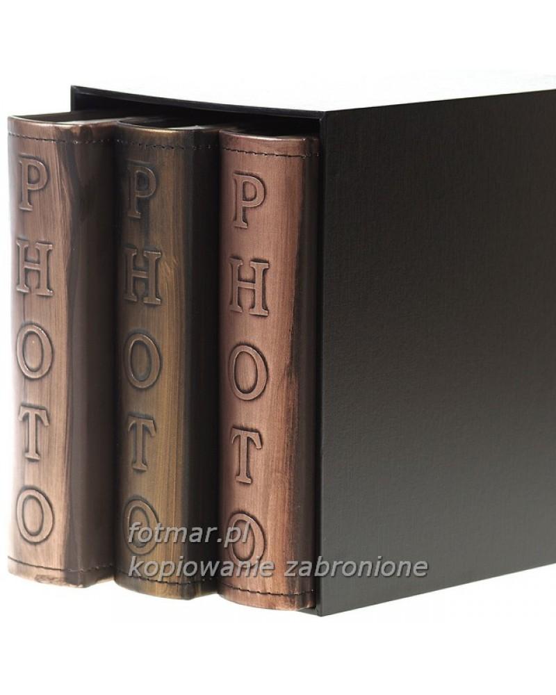 Piękny zestaw trzech albumów na 200 zdjęć w pudełku zestaw na 600 zdjęć 10x15