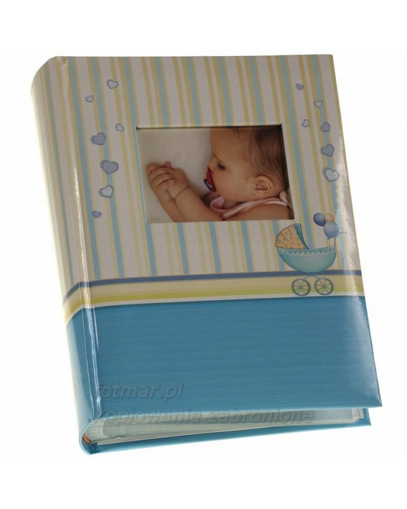 Niebieski album na zdjęcia 10x15 szyty na 300 zdjęć BABY CHART NIEBIESKI