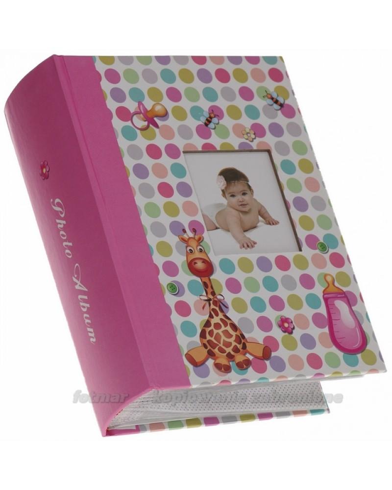 Szyty różowy album na 300 zdjęć 10x15 dla dziecka BEE