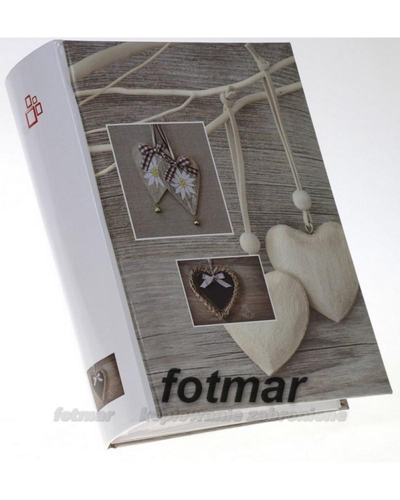 Ładny szyty album na 300 zdjęć 10x15 z opisem  VINTAGE beżowe serce
