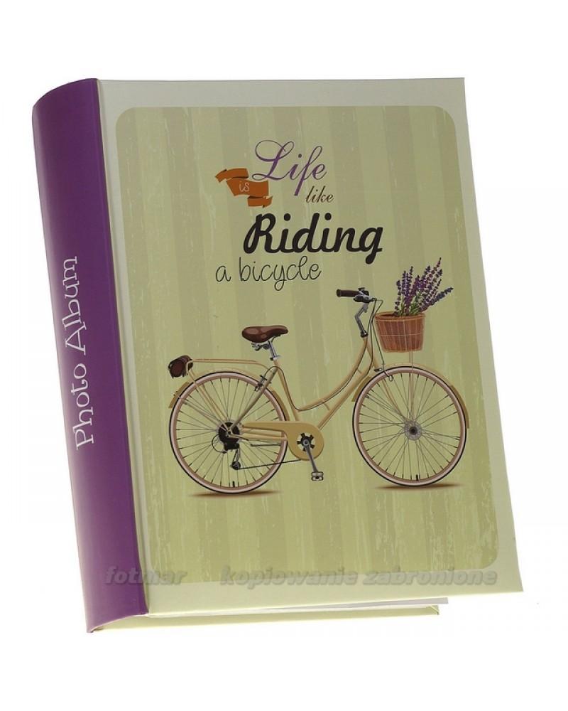 Album szyty kieszeniowy na 300 zdjęć 10x15 z opisem  Old  rower
