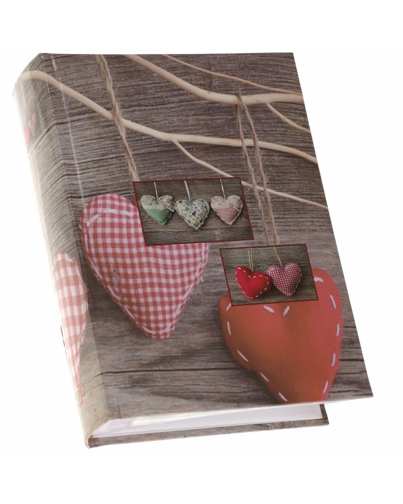 Ładny szyty album na 300 zdjęć 10x15 z opisem  VINTAGE czerwone serce